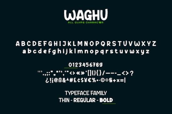 Waghu font free