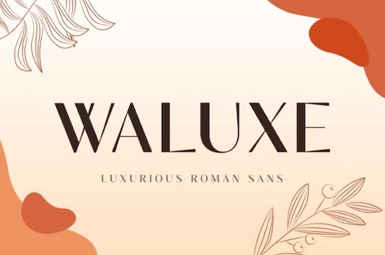 Waluxe font free download