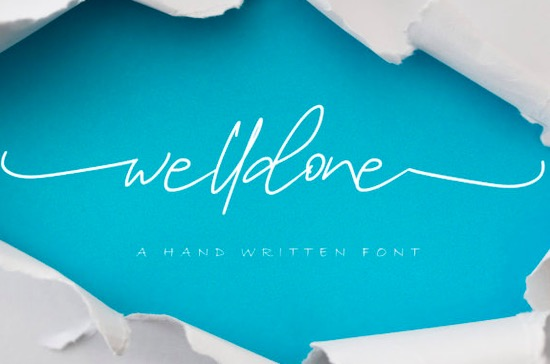 Welldone font free download