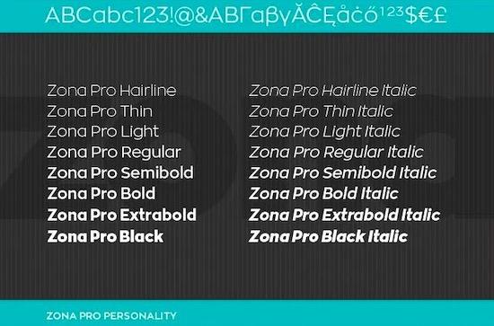 Zona Pro font download