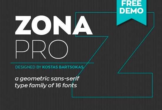 Zona Pro font free download