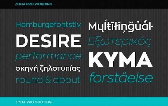 Zona Pro font free