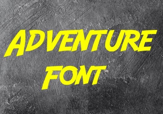 Adventure font free