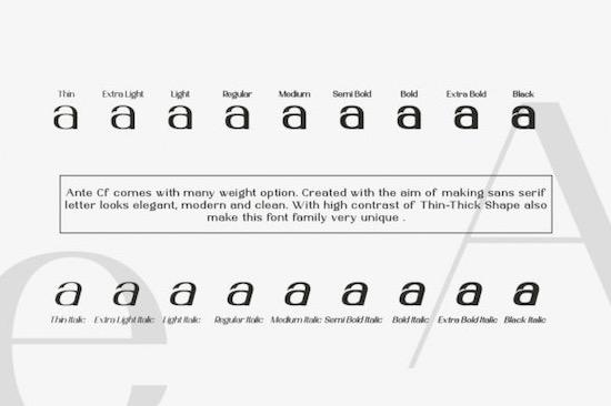 Ante Cf font download