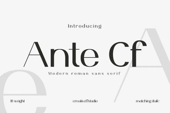 Ante Cf font free download