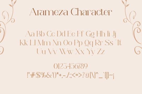 Arameza font free