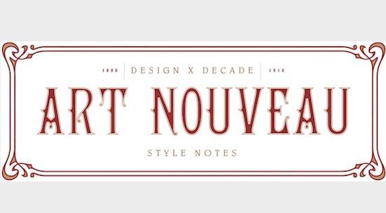 Art Nouveau font download