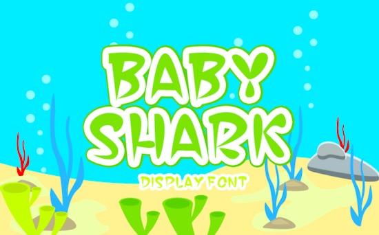 Baby Shark Display font download