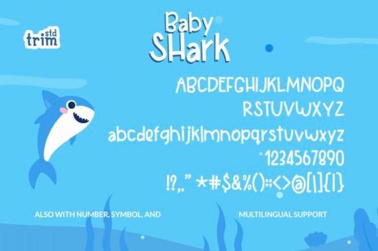 Baby Shark Handwritten font