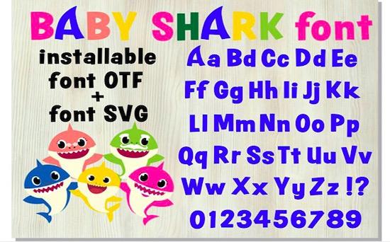 Baby Shark font download