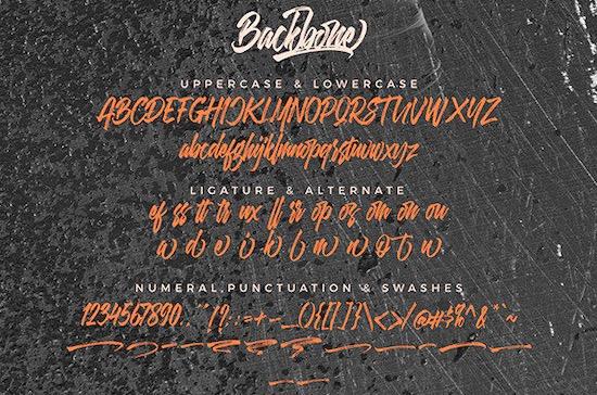 Backbone font free