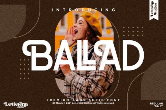 Ballad font free download