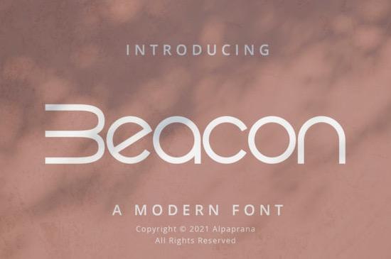 Beacon font free download