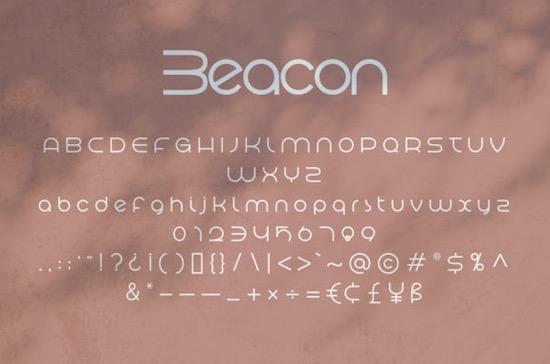 Beacon font free