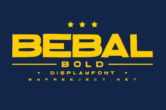 Bebal font free