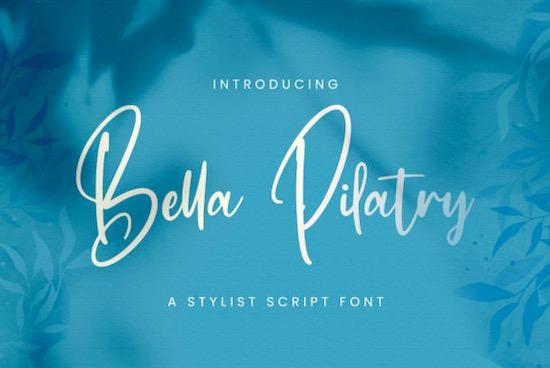 Bella Pilatry font free download