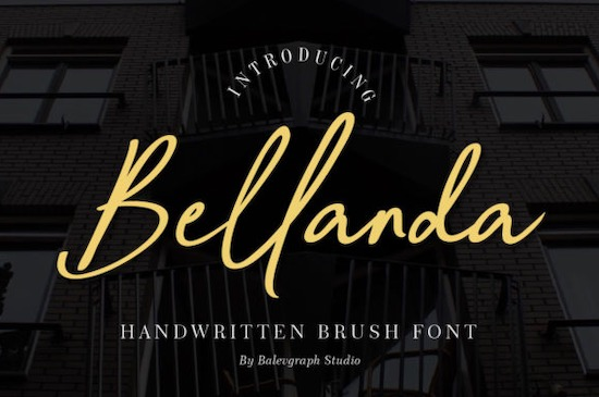 Bellanda font free download