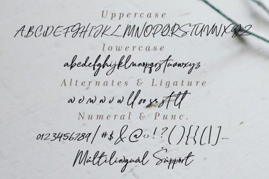 Bellanda font