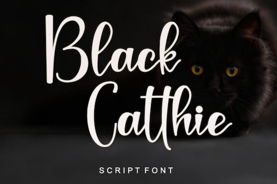 Black Catthie font free download