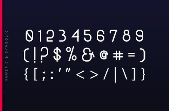 Black Hole font