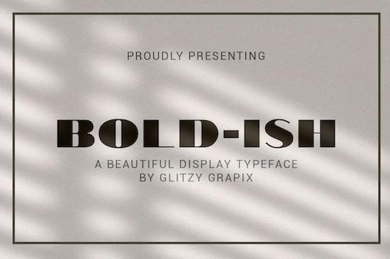 Bold-ish font
