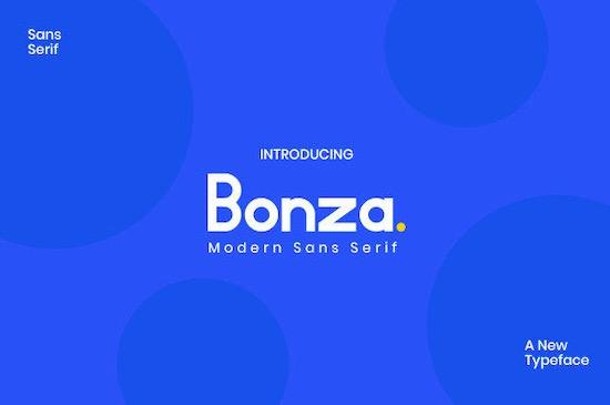 Bonza font free download