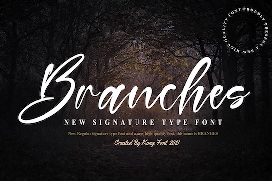 Branches font