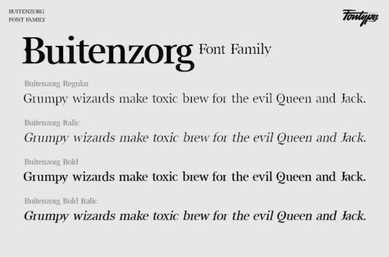 Buitenzorg font download