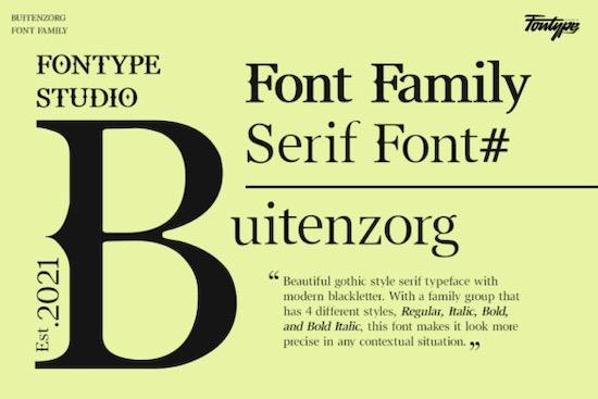 Buitenzorg font free