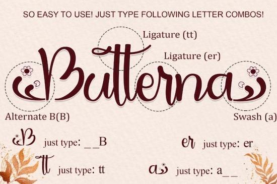 Butterna font download