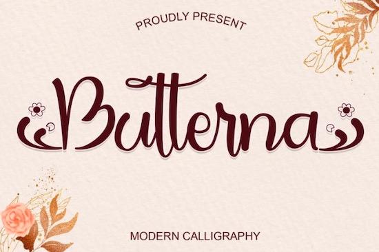 Butterna font