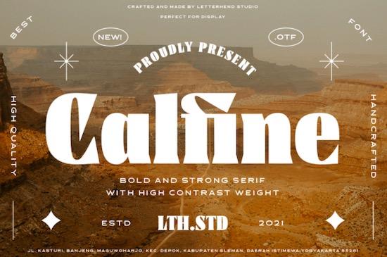 Calfine font free download