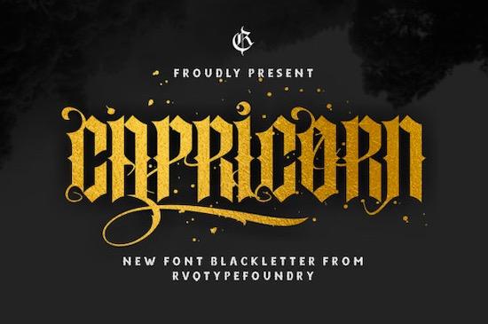 Capricorn font free download