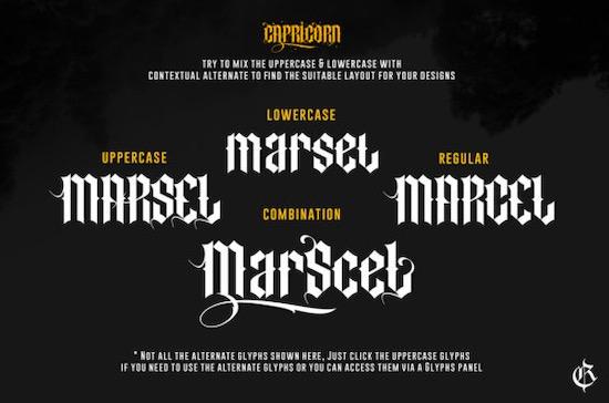 Capricorn font free