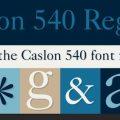 Caslon 540 font
