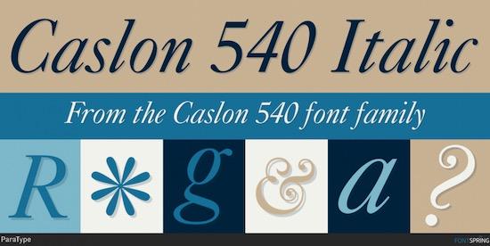 Caslon 540 font free