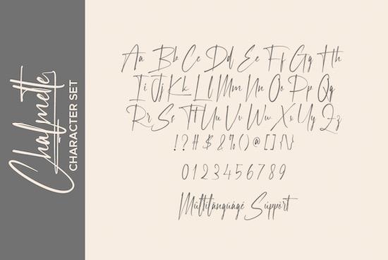 Chalmette font free