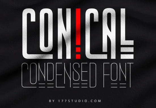 Conical Condensed font free download