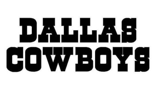 Dallas Cowboys font download