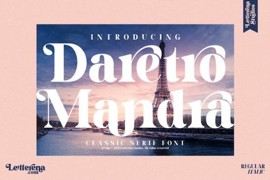 Daretro Mandra font free download