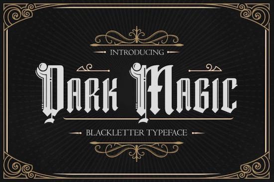 Dark Magic font free download