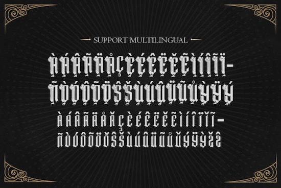 Dark Magic font free