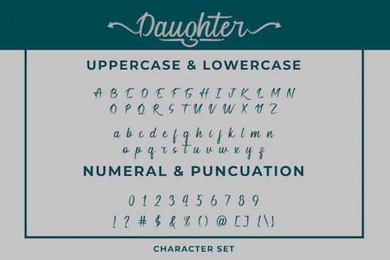 Daughter font download