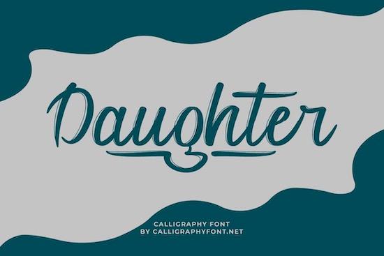 Daughter font