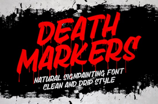Death Markers font free download