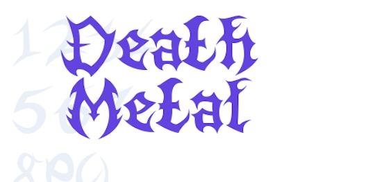 Death Metal font free