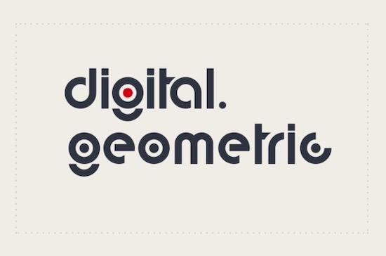 Digital Geometric font free download