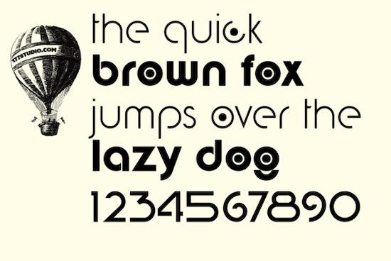 Digital Geometric font free