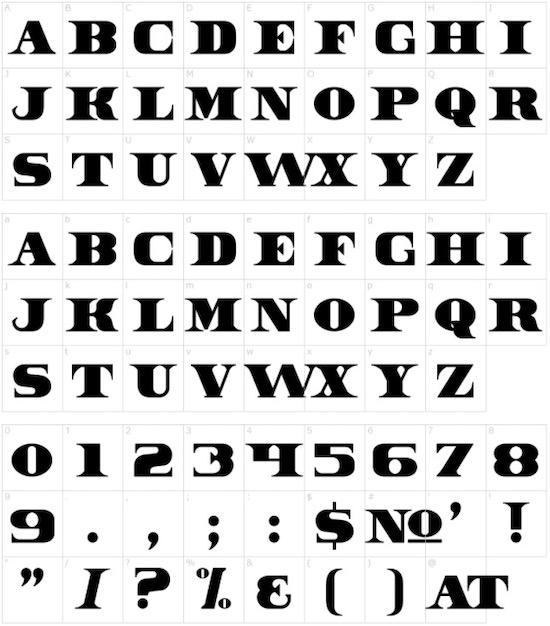 Dollar Bill font download