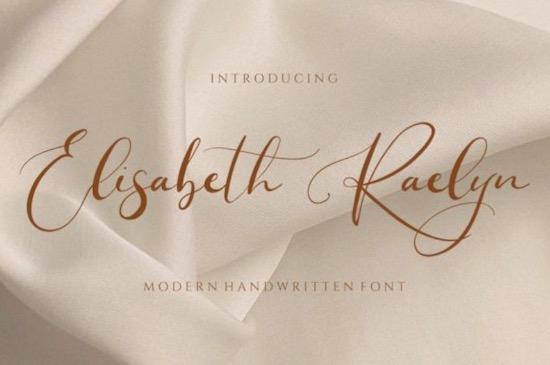 Elisabeth Raelyn font download